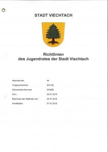 Richtlinien des Jugendrates der Stadt Viechtach-1