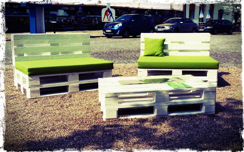 Chill-Oase auf dem Stadtplatz