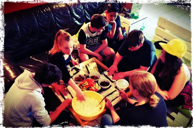 Vegane Kochaktion im Jugendzentrum