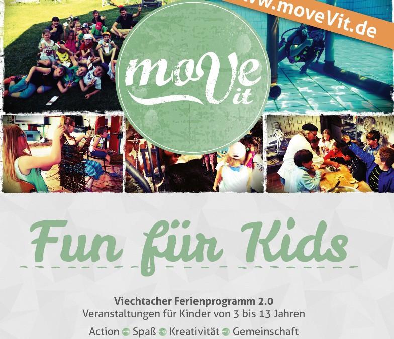 Fun für Kids in den Sommerferien – Anmeldung läuft seit dem 4.7.2016