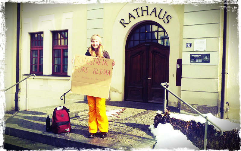 """Jugendrätin zeigt Eigenintiative – """"Friday for Future"""" in Viechtach!"""
